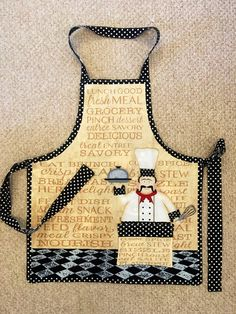 Chef apron reversible with casino and darts on by GeeGeeGoGo