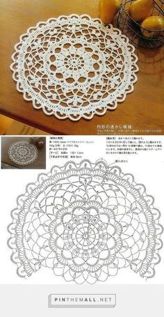 Crochet round doily, floral lace ~~ by Sharon Ramsey links to several free crochet doily patterns - this is one -Crochet Doily 4 It reminds me of my childhood days when I visited the grandparents and all these dainty, popped up in every room in the house Motif Mandala Crochet, Crochet Doily Diagram, Crochet Circles, Crochet Doily Patterns, Crochet Round, Crochet Chart, Crochet Squares, Thread Crochet, Mandala Rug