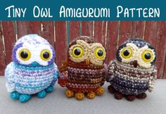 Crochet Pattern: Tiny Owl Amigurumi Instant by MilesofCrochet