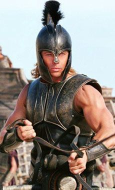 "This is a photo of Brad Pitt acting as the character Achilles in the movie ""Troy"" released in Troy Movie, Epic Movie, Troy Film, Movie Film, Brad Pitt Workout, Troy Achilles, Achilles Tendon, Bradd Pitt, Brad Pitt Movies"