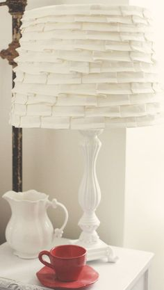 lampshade (ruffles or fabric or ribbon)