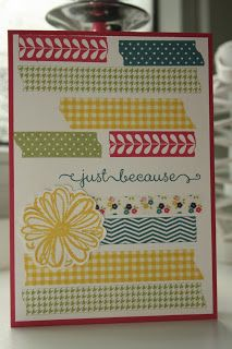 StampinSyl - Stampin up Washi Tape, Flower shop stamps and Tape It stamp set.
