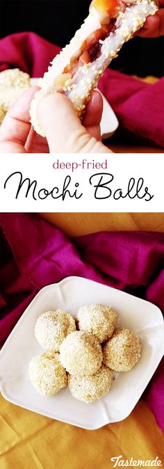 You read that right - Deep Fried Mochi Balls. These apple mochi balls come bursting with flavor.