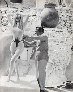 Salvador Dalí (Spanish, 1904–1989) + Friend, 1967. Photo by Werner Bokelberg