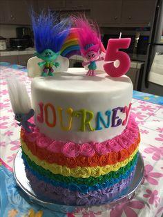 Trolls oh! A Poppy cake for Avery! Trolls Party, Trolls Birthday Party, 6th Birthday Parties, Birthday Bash, Birthday Ideas, 5th Birthday Cake, Minnie Birthday, Rainbow Birthday, Bolo Trolls