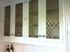 Glass door with lead detail