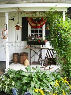 images about Primitive Porches Outdoor Spaces, Outdoor Living, Outdoor Decor, Pergola, Primitive Homes, Primitive Decor, Prim Decor, Decks And Porches, Front Porches