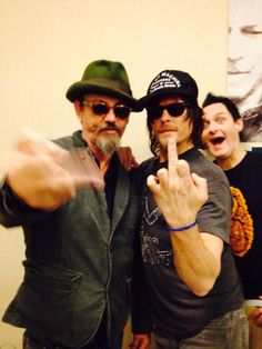 2 of my favorite guys! Tommy Flanagan (Chibs on Sons of Anarchy) & Norman Reedus (Daryl on The Walking Dead) at the Chiller Theatre in April 2014. Sean Clark in the back.