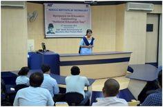 Celebration of National Education Day on Nov. 11, 2014, at Narula Institute of Technology