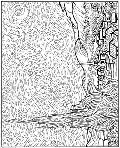 coloring page Vincent van Gogh on Kids-n-Fun. Coloring pages of Vincent van Gogh on Kids-n-Fun. More than coloring pages. At Kids-n-Fun you will always find the nicest coloring pages first! Cool Coloring Pages, Adult Coloring Pages, Coloring Books, Artist Van Gogh, Arte Sketchbook, Art Van, Art Classroom, Art Plastique, Vincent Van Gogh