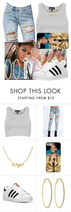 """Untitled#145"" by fashionismypashion476589 ❤ liked on Polyvore featuring Topshop, Boohoo, adidas, Roberta Chiarella and Style & Co."