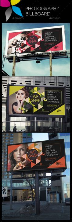 Photography Billboard Template #design Download: http://graphicriver.net/item/photography-billboard/10482005?ref=ksioks