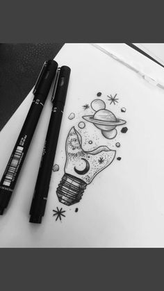 18 Ideas art drawings doodles pens ink for 2019 Space Drawings, Cute Drawings, Drawing Sketches, Tattoo Drawings, Pencil Drawings, Tumblr Art Drawings, Drawing Art, Drawings Of Stars, Sketching