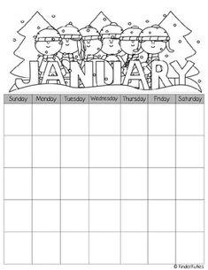 blackline master calendar 2014