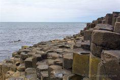 Las columnas de the Giant's Causeway en Irlanda del Norte