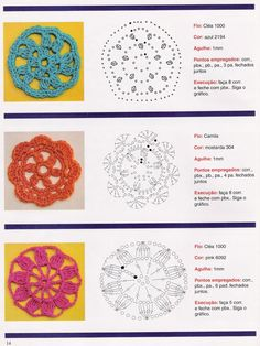 Patrones Crochet, Manualidades y Reciclado: 100 MODELOS DE FLORES PARA TEJER A CROCHET CON PATRONES GRÁFICOS BIEN EXPLICADO (FACILISIMO VS UTILISIMA)