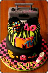 awesome 80's cake I love this cake :-)