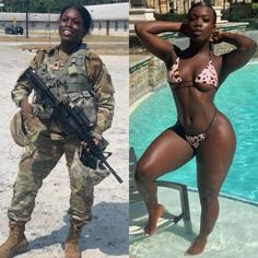 Badass Women, Sexy Women, Fit Women, Female Soldier, Military Women, Girls Uniforms, Curvy Girl Fashion, Beautiful Black Women, Looking For Women