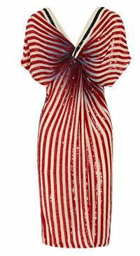 4th of July ideas, independence day, red white and blue, stars and stripes, fashionrooftop.com, fashion rooftop, chiffon dress, red dress, striped dress, circus,