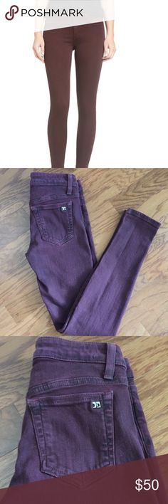 JOE'S Wine Denim Excellent used condition! {Fit: The Skinny} Perfect pair of denim to add a little flair to your wardrobe. Pictures make color appear purple but they are wine colored like the headshot photo. Joe's Jeans Jeans Skinny