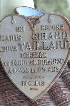 Vintage Votivherz bei vintageweave / French Metal Heart at vintageweave