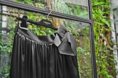 Be the belle of the ball in this black satin Lanvin skirt