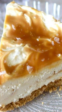 Salted Caramel No Bake Cheesecake..OMG THIS LOOKS SUPER DELICIOUS MINUS THE SALT