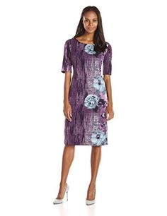 New Maya Brooke Women's Side Border Three Quarter Sleeve Dress online. Enjoy the absolute best in HOMEYEE Dresses from top store. Sku brqq30665ppau15233
