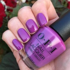 Nail inspiration for your perfect Discover new nail polish colors and show us how you are by tagging for a chance to be featured Purple Nail Polish, Purple Nails, Nail Polish Colors, White Nails, Opi Nails, Nail Manicure, Fancy Nails, Pretty Nails, Fabulous Nails