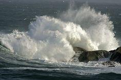 Grandes olas en A Coruña