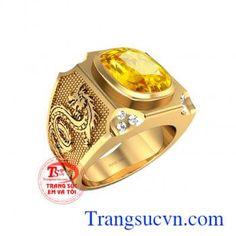 Nhẫn đá sapphire vàng