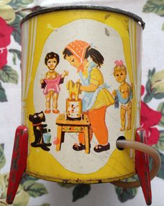 Vintage Tin Toy Washing Machine by thevanillasquirrel on Etsy, £12.00