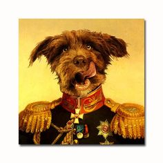 New style in the shop: custom military pet portrait