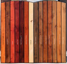 Items similar to Interior Window Barn Shutters - Sliding Shutters - Barn Door Shutter Hardware Packages Available - Farmhouse Style - Rustic Wood Shutter on Etsy Minwax Stain Colors, Minwax Wood Stain, Deck Stain Colors, Wood Colors, Red Wood Stain, Red Mahogany Stain, Staining Cedar Wood, Cherry Wood Stain, Deck Staining