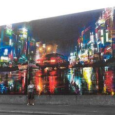 Car city by #dank from #essex #streetart