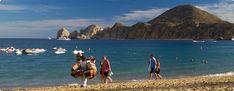 Medano Beach in Cabo San Lucas, where Pueblo Bonito Los Cabos resort is located