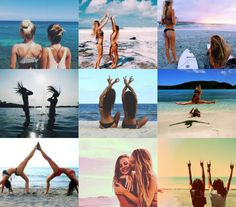Fun poses for this Thursday at the beach! Cute Beach Pictures, Cute Friend Pictures, Best Friend Pictures, Beach Photos, Cool Photos, Tumblr Photography, Photography Poses, Friend Tumblr, Shotting Photo