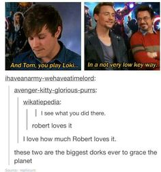 I would say that Benedict and Robert are the biggest dorks but oh well still love this post