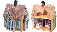 1-12-Scale-Charming-Fairy-Tale-Buttercup-Wood-Cottage-DOLLHOUSE-KIT-Open-Back