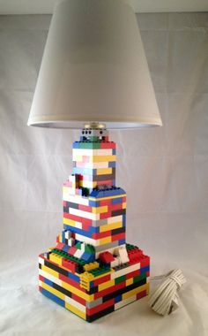 Fun and Playful Multi-Colored LEGO nightstand/desk lamp