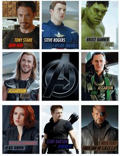 The Avengers. Except that should be Thor Odinson and Loki Laufeyson.