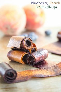 Blueberry Peach Fruit Roll-Ups swirl together two favorite summer fruits into one sweet and healthy snack perfect to pack in a lunchbox. | cupcakesandkalechips.com | gluten free, vegan, paleo recipe