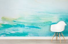 Turquoise watercolour wallpaper