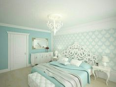 turquoise bedrooms. Teall bedroom mm love it HGTV loves this dreamy coastal with seafoam green walls