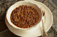 Lentejas guisadas Food Shows, Chili, Soup, Legumes, Pork, Cook, Chile, Soups