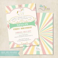 Custom Baby Shower Wedding Birthday Party Invitation by BluGrass