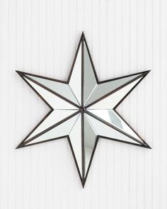 Six Mirrored Gl Panes Are Skillfully Cut Shaped And Ed By Hand To Create Each Of These Stars Framed In Antiqued Br The Has A
