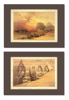 Egyptian Sphinx & Great Temple at Abu Simbel by VintageArtMasters