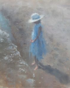 E.J. Paprocki (American: 1971) - 'Blue Dress'