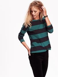 Relaxed Boat-Neck Tee